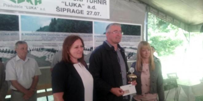 Velemajstor Dragiša Blagojević iz Nikšića pobjednik je šestog Međunarodnog šahovskog turnira u Šipragama
